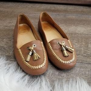 Jack Rogers Terra Leather Loafers Tassel CL